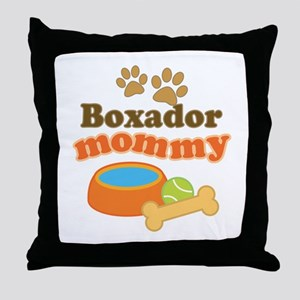 Boxador Mommy Throw Pillow